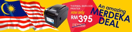 Thermal Barcode Printer Merdeka Promo