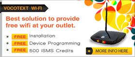 pos market vocotext wifi hotspot for outlet