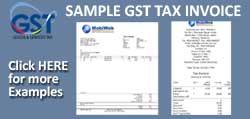 gst tax invoice sample