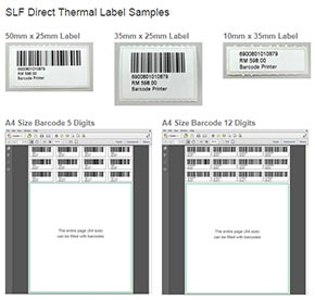 Direct Thermal Labels Samples