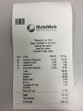 80mm Thermal Receipt
