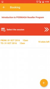 Booking Session