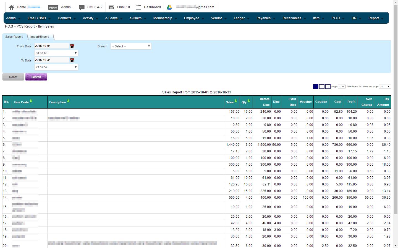 POS Sales Report
