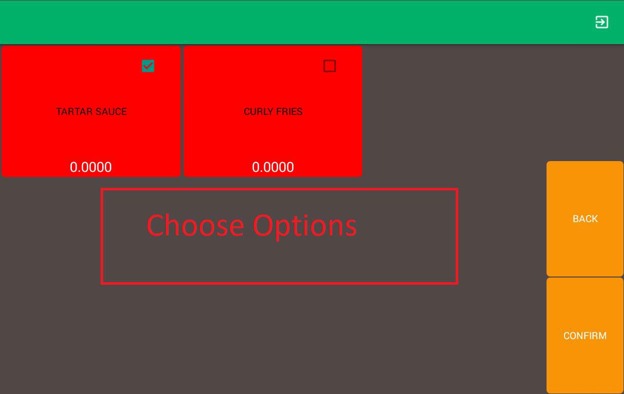 mobile ordering android app item option