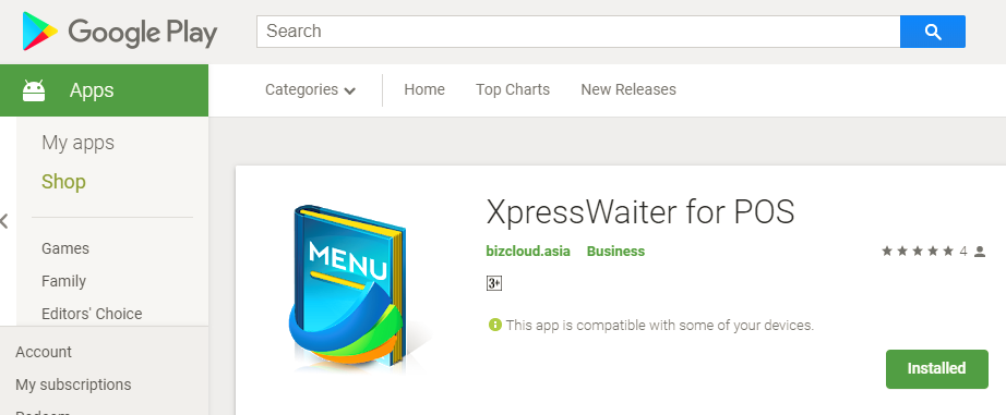 download & install Xpress Waiter for Google Play