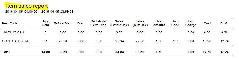 sales report 1