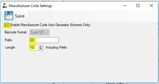 Prefix & Length customizable