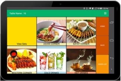 FnB mobile ordering software
