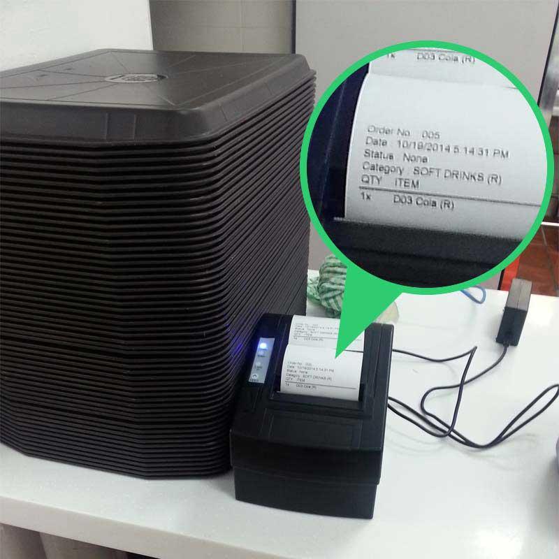 beverage order printer pos system
