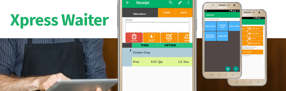 Pos System Xpress Waiter Mobile Ordering Android App For
