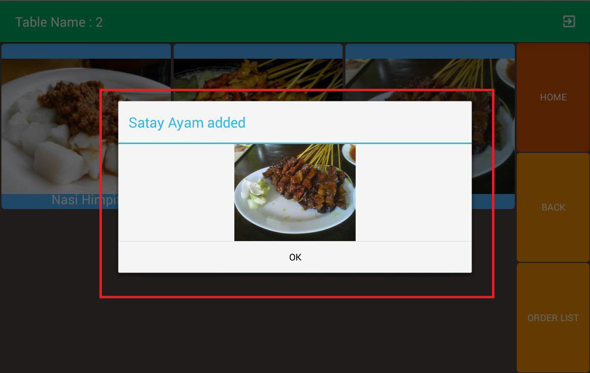 mobile ordering android app add item