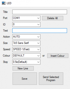program led display 2 pos system