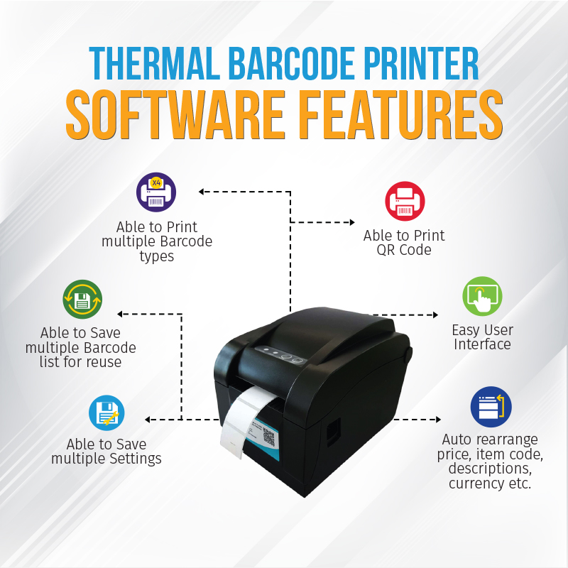 Thermal Barcode Printer Malaysia with Free Software | Barcode Label