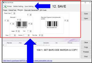 barcode printer 4 pos system