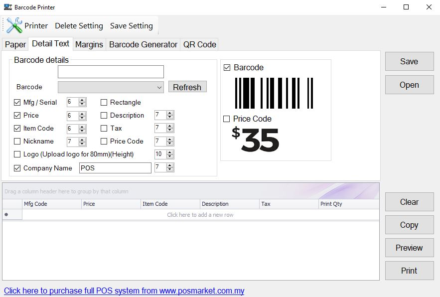 Thermal Barcode Printer Malaysia with Free Software