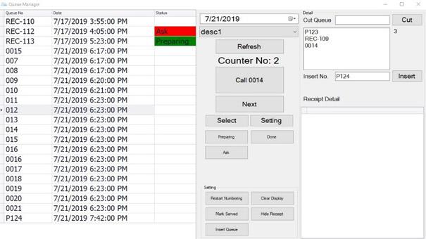 Queue Management System Queue System Qms Number Kiosk Bizcloud Queue Manager