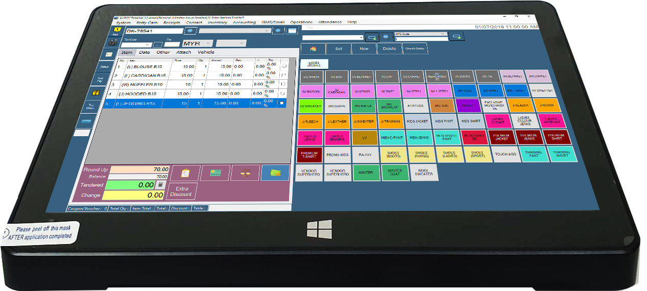 p901 touch screen pos system