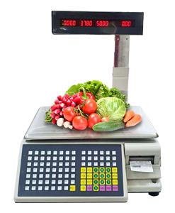 weight machine barcode label pos system