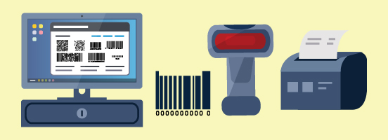 retail pos system barcode