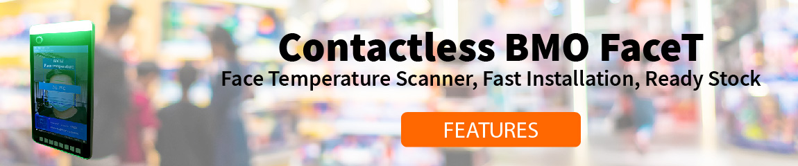 contactless face temperature scanner homepage