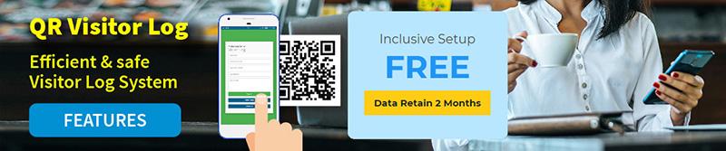 qr visitor registration system entry log