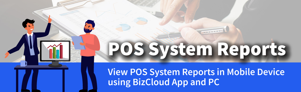 pos system reports in mobile and pc view