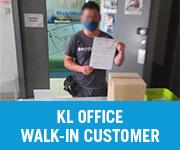KL Walk in Customer